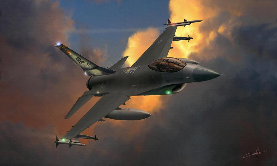 F-16 Digital Art - Beauty Pass by Dale Jackson