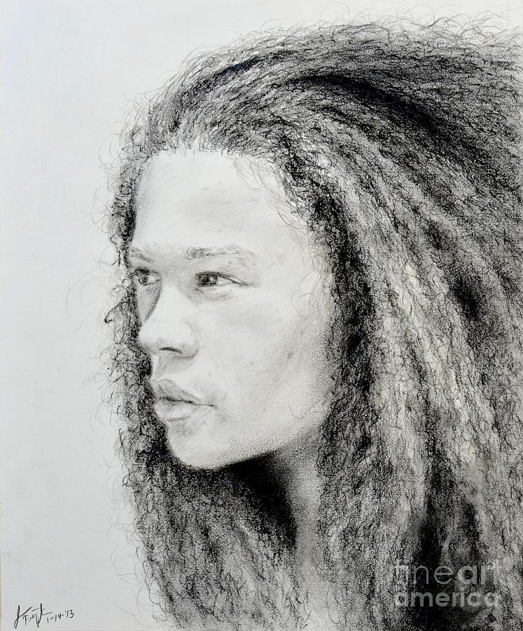 Beauty With An Afro Drawing