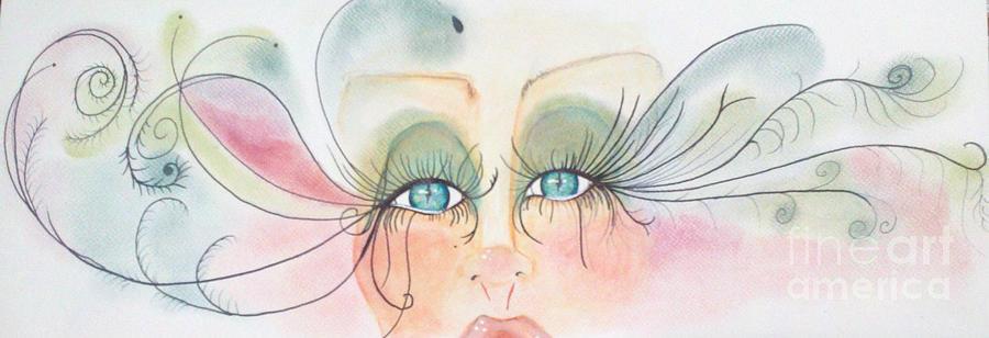 Bebe Blue Eyes Painting