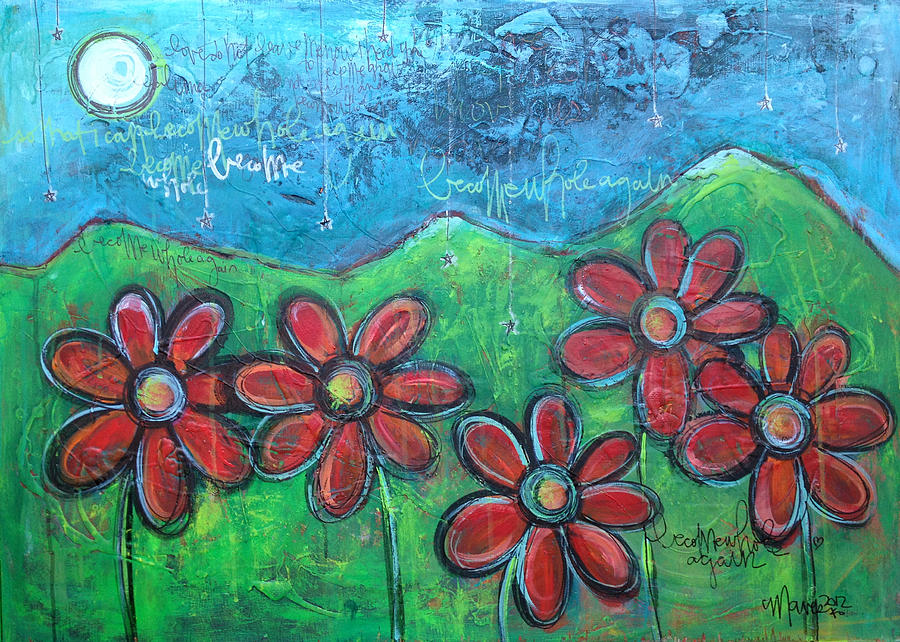 Become Whole Again Daisies Painting