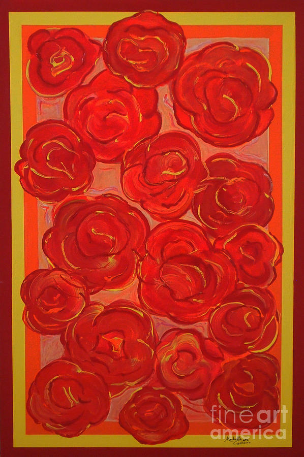 Bed Of Roses Painting  - Bed Of Roses Fine Art Print