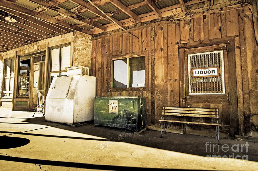 Bedrock Porch - Aged Photograph