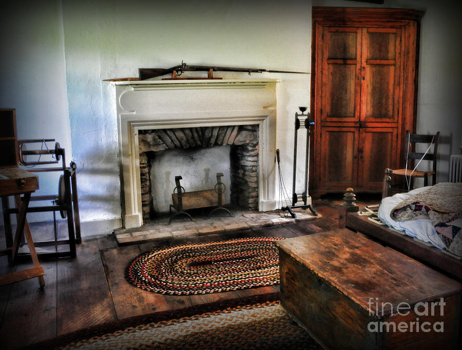 Bedroom - Colonial Style Photograph  - Bedroom - Colonial Style Fine Art Print