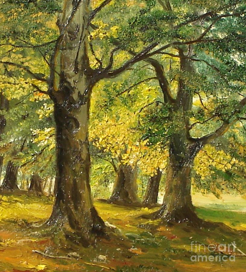 Beeches In The Park Painting