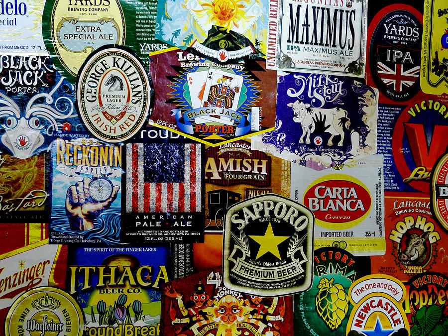 Beer Labels Photograph