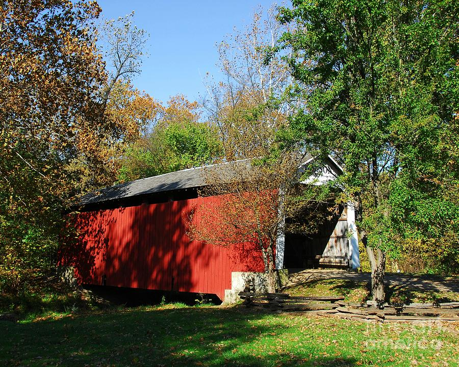Beeson Covered Bridge 1 Photograph  - Beeson Covered Bridge 1 Fine Art Print