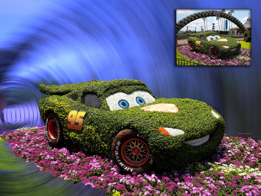 Before And After Sample Art 29 Floral Lightning Mcqueen Photograph  - Before And After Sample Art 29 Floral Lightning Mcqueen Fine Art Print
