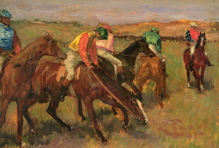 Before The Races Painting  - Before The Races Fine Art Print