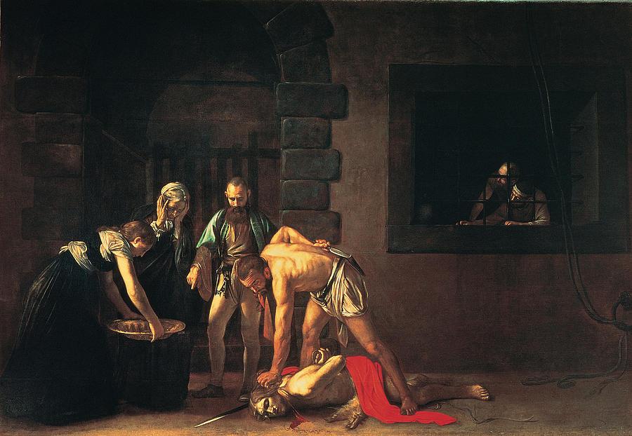 Beheading Of St John The Baptist, 1608 Painting