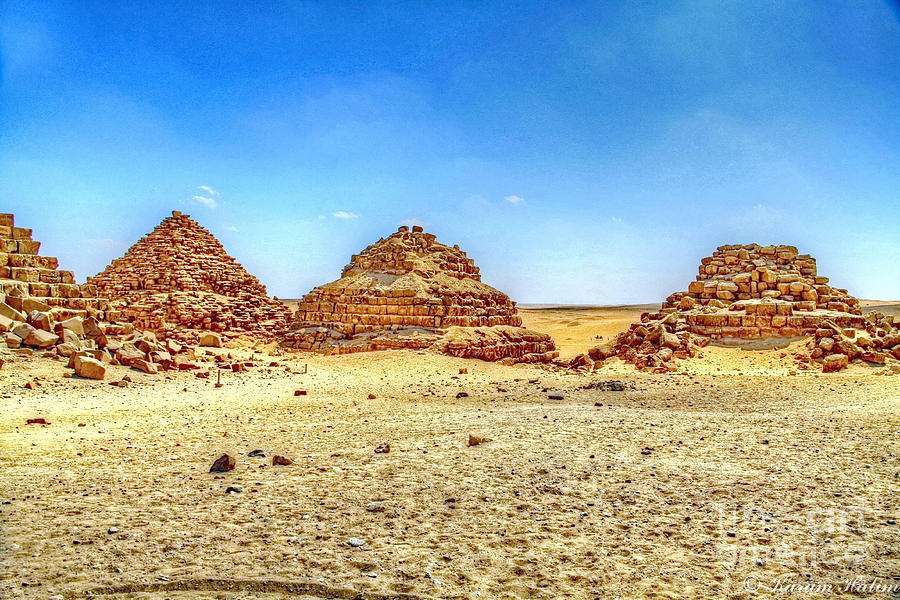 Archeological Views Photograph - Behind The Greater Pyramid  by Karam Halim