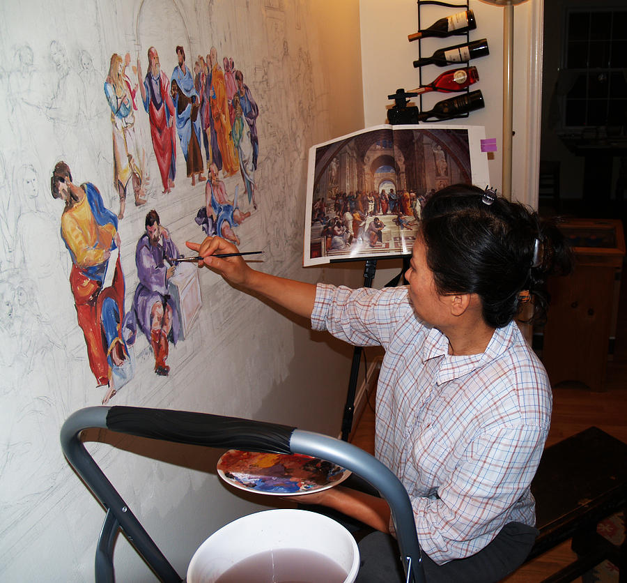 Behind The Scenes Mural 3 Photograph
