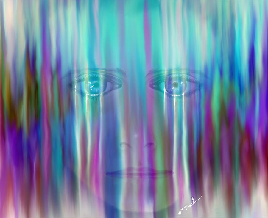 Behind The Tears Digital Art  - Behind The Tears Fine Art Print