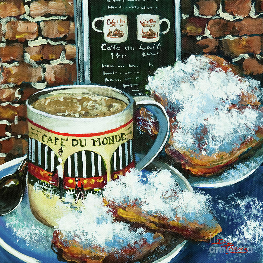 Beignets And Cafe Au Lait Painting  - Beignets And Cafe Au Lait Fine Art Print