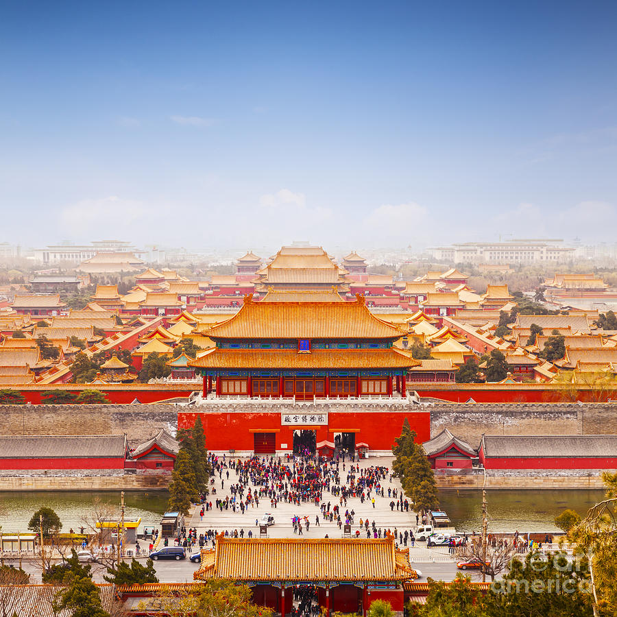 Beijing Forbidden City Skyline Photograph
