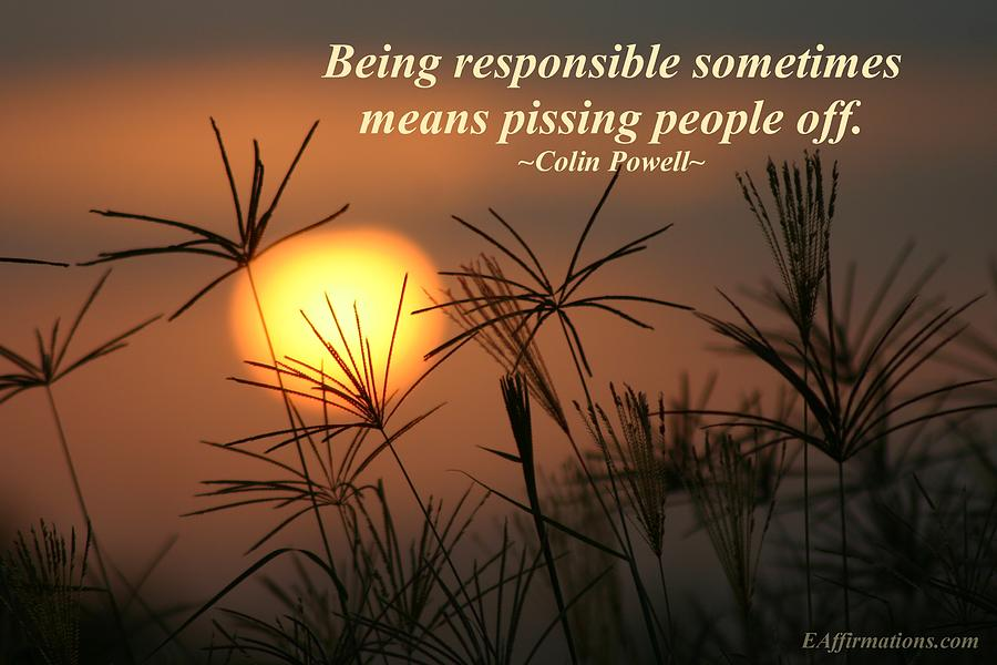 Being Responsible  Photograph