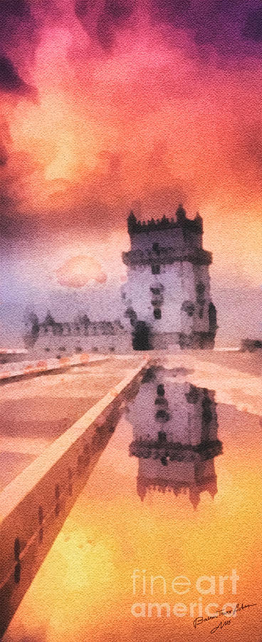 Belem Tower Painting  - Belem Tower Fine Art Print