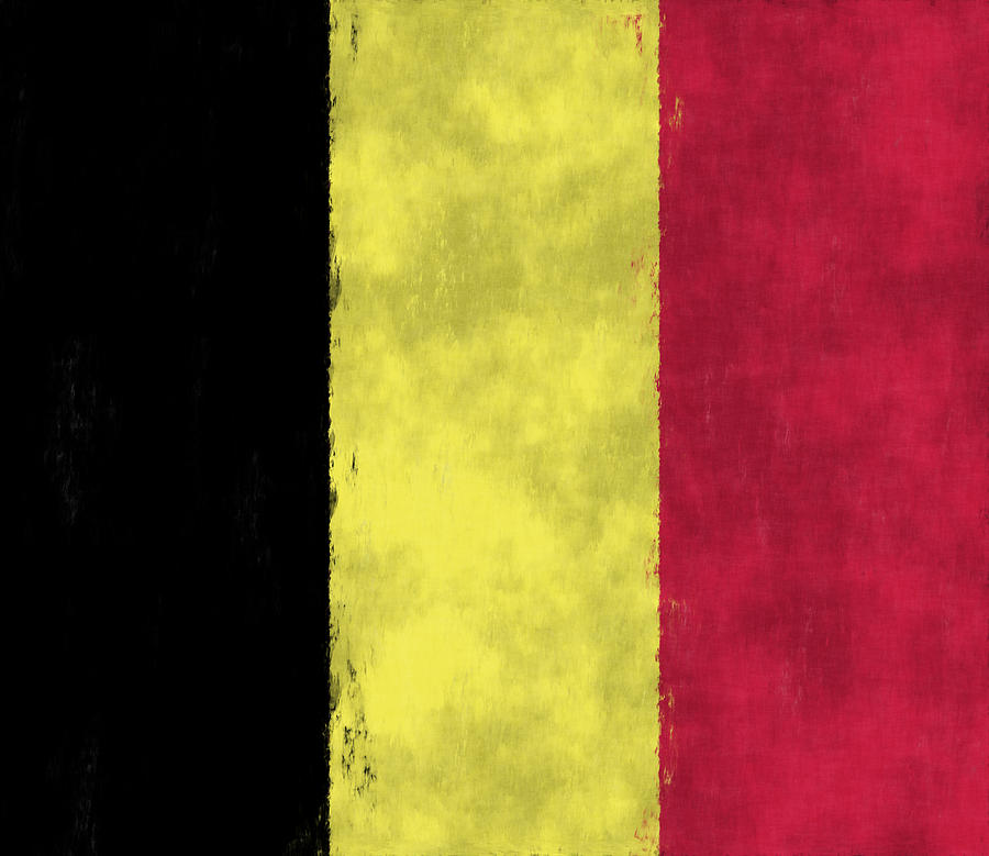 Belgium Flag Digital Art  - Belgium Flag Fine Art Print