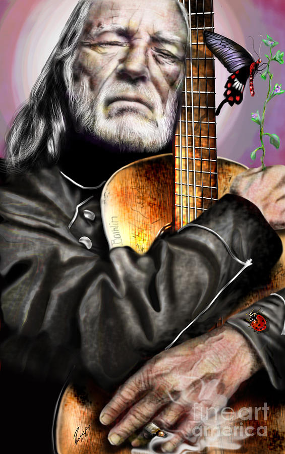 Believing In Rainbows And Butterflies-being Willie Painting