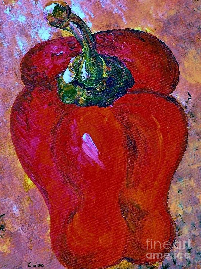 Bell Pepper - Take Center Stage Painting  - Bell Pepper - Take Center Stage Fine Art Print