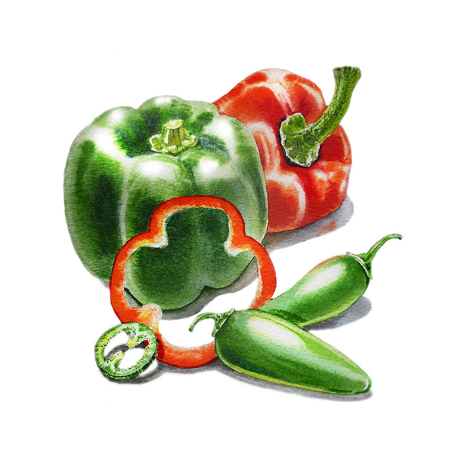 Bell Peppers Jalapeno Painting