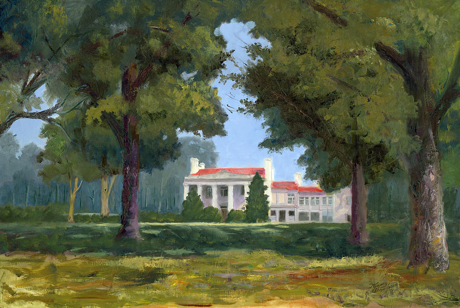 Belle Meade Mansion Nashville Tennessee Painting  - Belle Meade Mansion Nashville Tennessee Fine Art Print