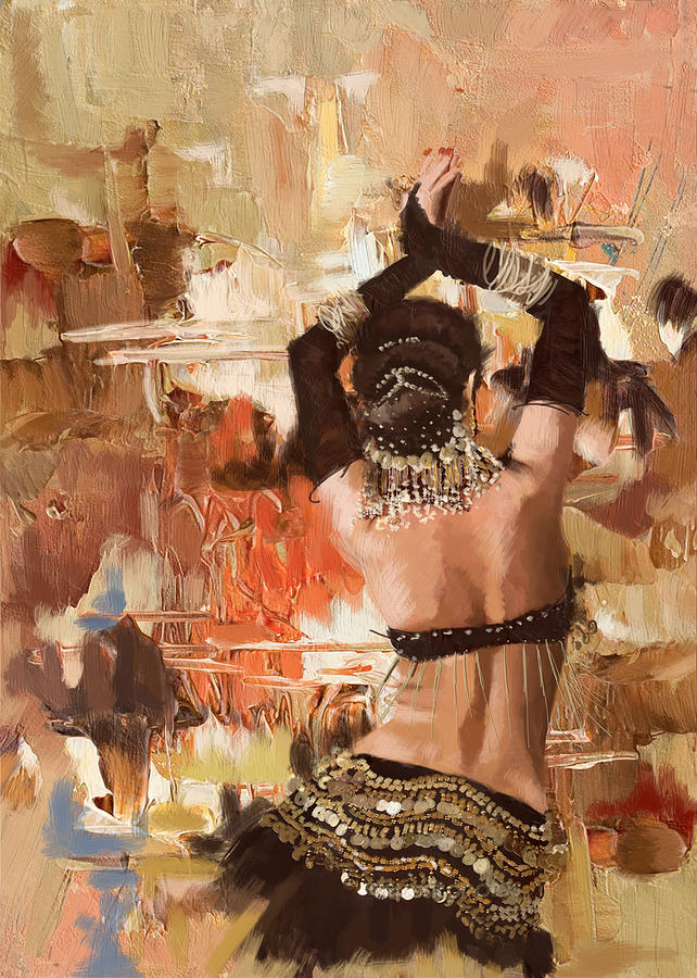 Belly Dance Art Painting - Belly Dancer Back by Corporate Art Task Force