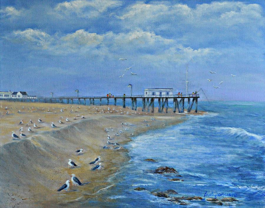 Belmar fishing pier painting by suely cassiano for Belmar nj fishing