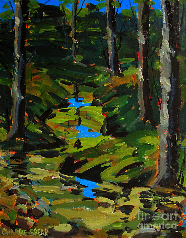 Landscape Painting - Below The 8th Green by Charlie Spear