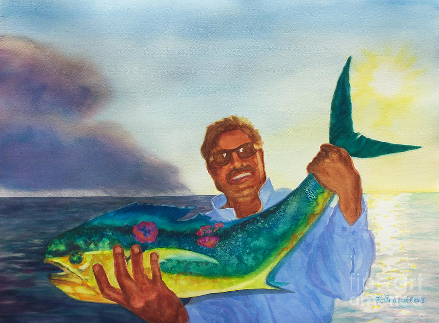 Ben And The Dolphin Fish Painting