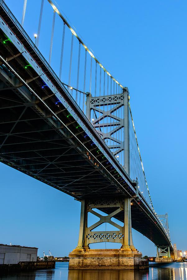Ben Franklin Bridge Photograph - Ben Franklin Bridge by Louis Dallara