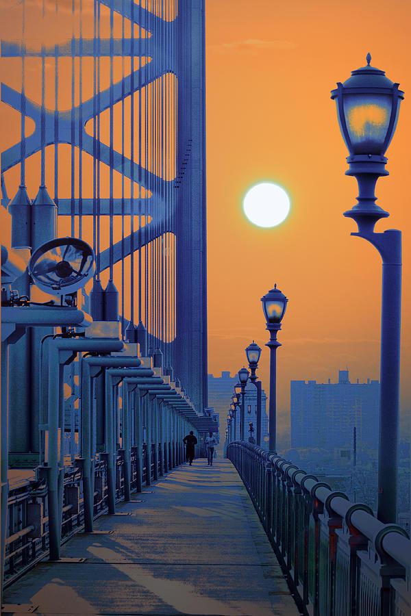 Ben Franklin Bridge Walkway Photograph