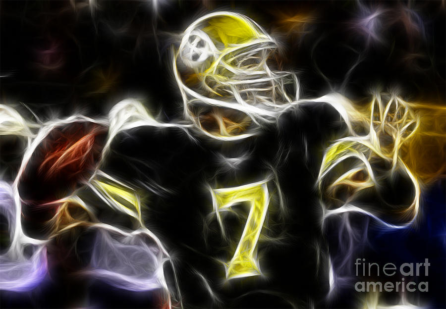 Ben Roethlisberger  - Pittsburg Steelers Photograph  - Ben Roethlisberger  - Pittsburg Steelers Fine Art Print