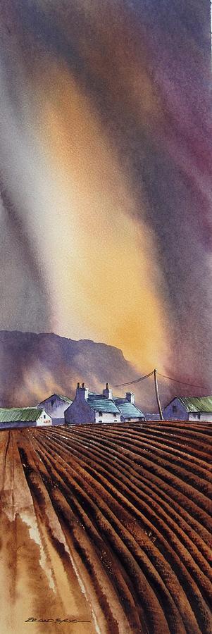 Landscape Painting - Benbulbin Farm by Roland Byrne