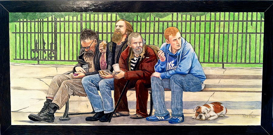 Bench People Series-the Guys  Drawing