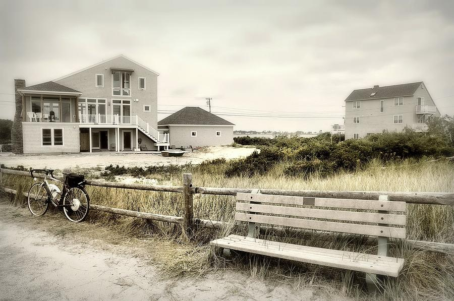 Maine Photograph - Benchn Bike by Diana Angstadt