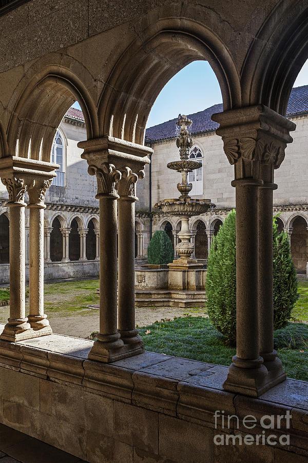 Benedictine Gothic Cloister Photograph