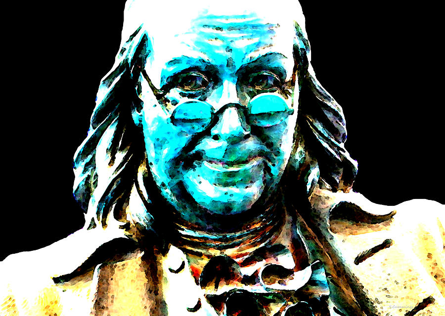 Benjamin Franklin - Historic Figure Pop Art By Sharon Cummings Painting