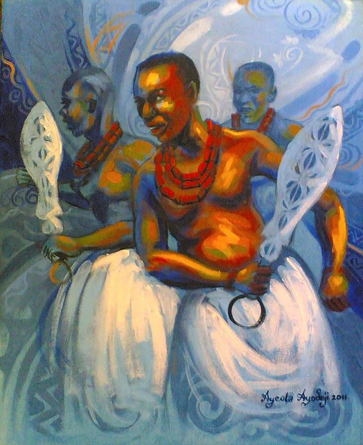 Bennin Royal Dance Painting by Ayodeji Ayeola