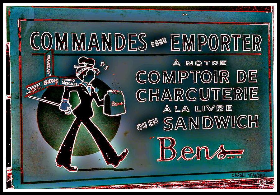 Bens Deli Restaurant Fameux Comptoir Charcuterie Smoked Meat Take-0ut Montreal Memorabilia Painting