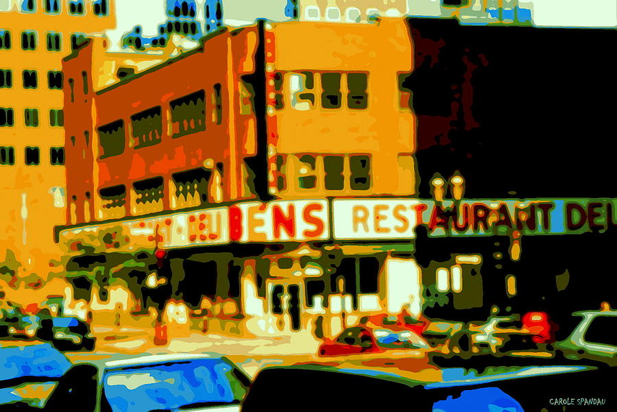 Bens Restaurant Vintage Montreal Landmarks Nostagic Memories And Scenes Of A By Gone Era Painting