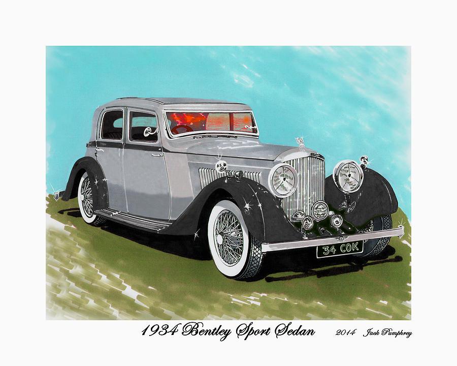 Bentley Sport Sedan 1934 Painting