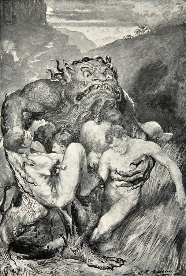Beowulf Print Drawing
