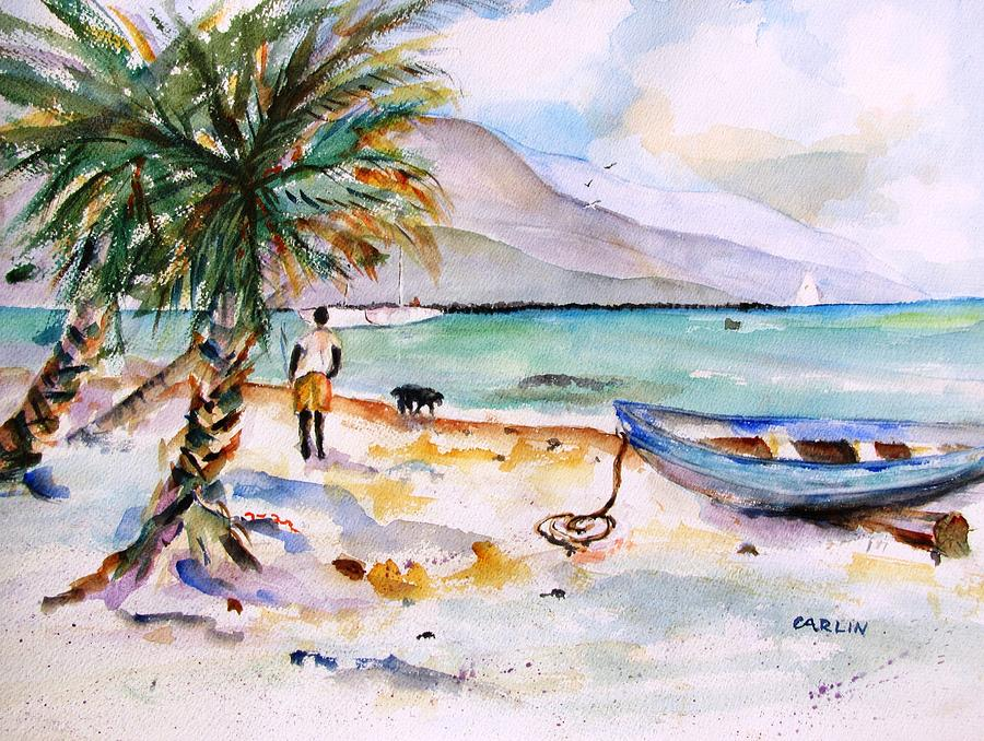 Bequia Boats Painting