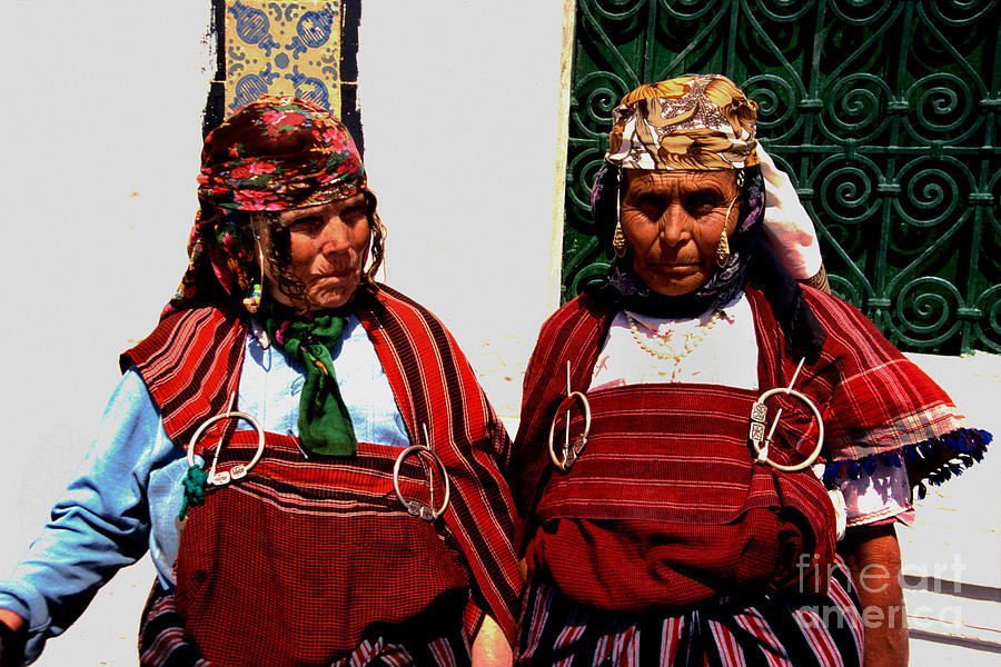 Berber Women In Tunisia Photograph  - Berber Women In Tunisia Fine Art Print
