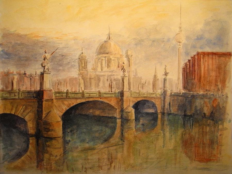 Cityscape Painting - Berlin by Juan  Bosco