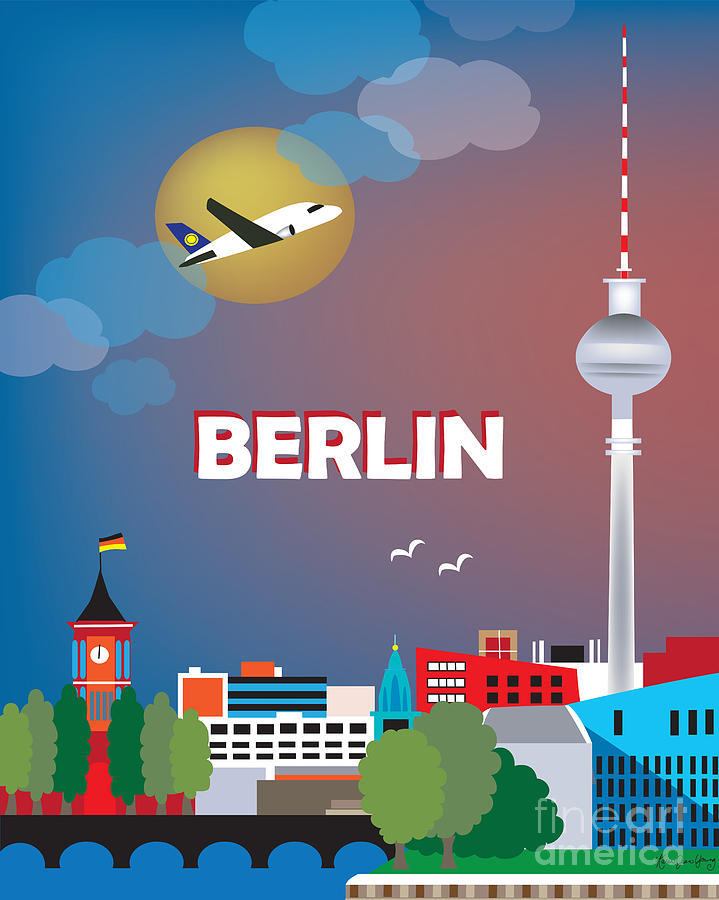 Berlin Digital Art  - Berlin Fine Art Print