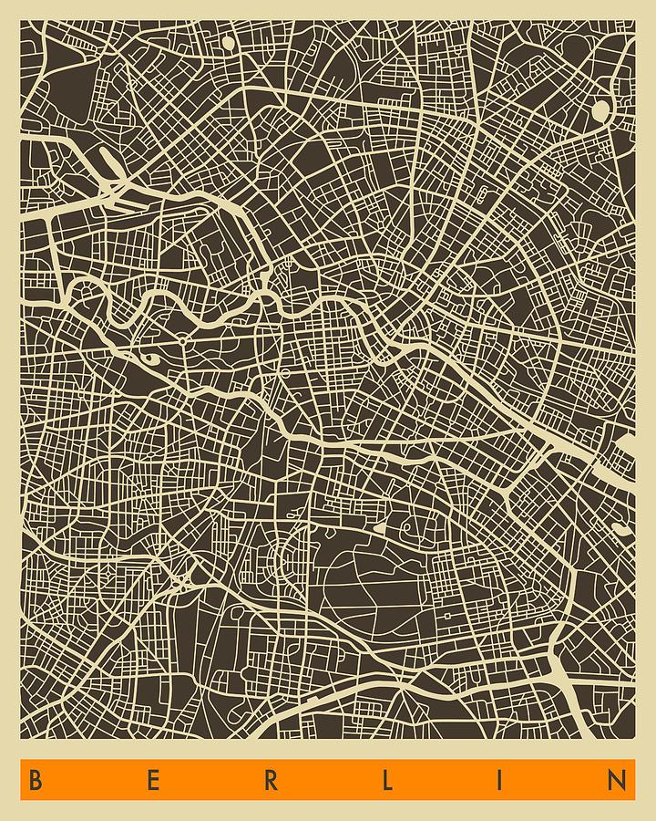 Berlin Map Digital Art
