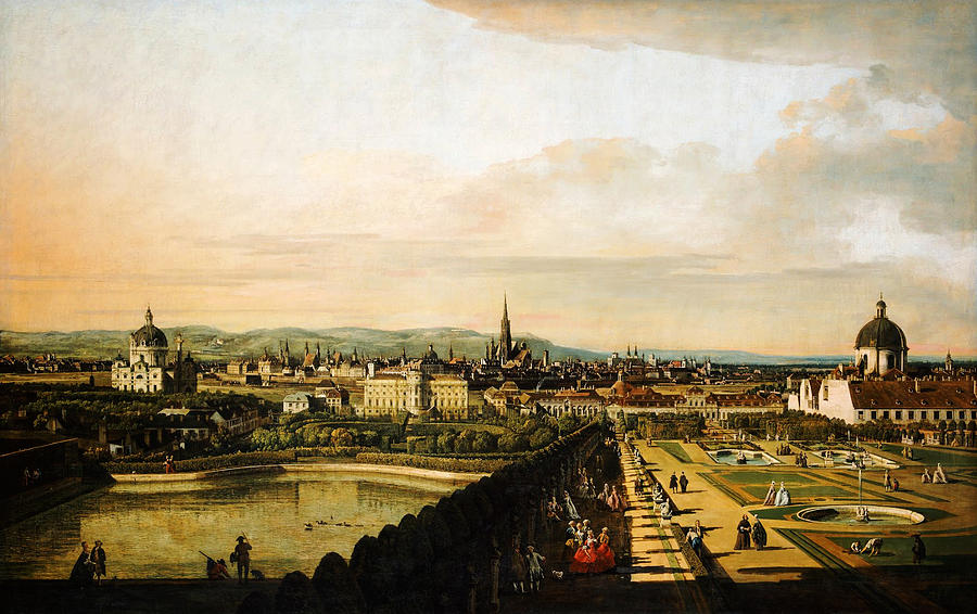 Bernardo Bellotto Wien Vom Belvedere Aus Gesehen 1758 1761 Painting