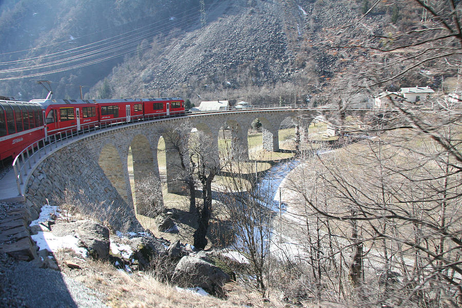 Bernina Express In Winter Photograph