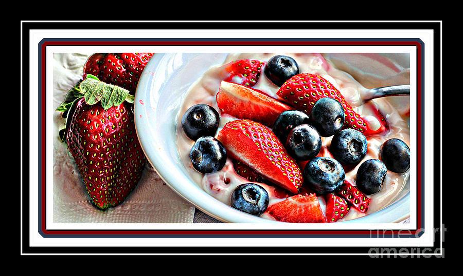 Berries And Yogurt Intense - Food - Kitchen Photograph
